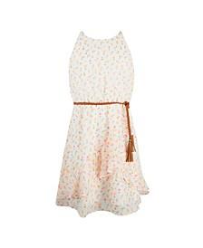 Big Girls Full Skirt with Asymmetrical Flounces Dress