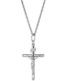 Crucifix Pendant Necklace in Sterling Silver