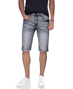 Men's Distressed Frayed Denim Shorts
