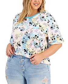 Trendy Plus Size Disney Characters Ringer T-Shirt