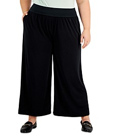 Plus Size High-Rise Wide-Leg Pant, Created for Macy's