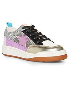Big Girls Lace Up Star Sneaker