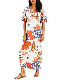 Printed Caftan Maternity Dress