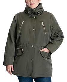Plus Size Hooded Anorak Coat, Created for Macy's