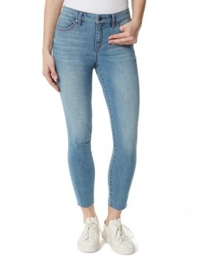 Raw Hem Skinny Mid-Rise Jeans