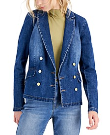 Denim Double-Breasted Blazer, Created for Macy's