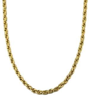 """Triple Woven Link 22"""" Chain Necklace"""
