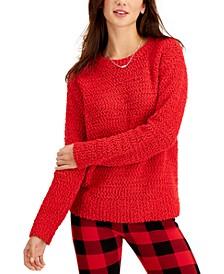 Petite Teddy Bouclé Sweater, Created for Macy's