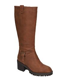 Women's Lorielle Lug Sole Wide Calf Tall Boots