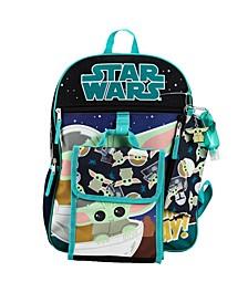 Kids Grogu 6 Piece Backpack Set