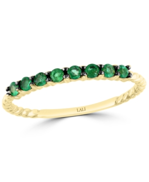 Emerald Stack Ring (1/4 ct. t.w.) in 14k Gold