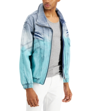 Men's Modern-Fit Stretch Dip-Dyed Denim Jacket