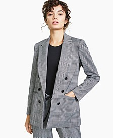 Plaid Double-Breasted Blazer, Created for Macy's