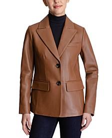 Leather Blazer Coat