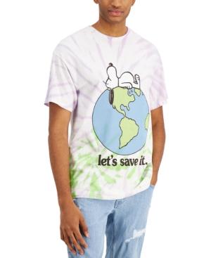 Men's Snoopy Save Planet Tie Dye Short Sleeve T-Shirt