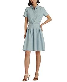 Chambray Short-Sleeve Dress