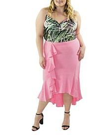 Plus Size The High Low Ruffle Front Skirt