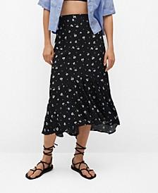Women's Printed Skirt with Ruffles