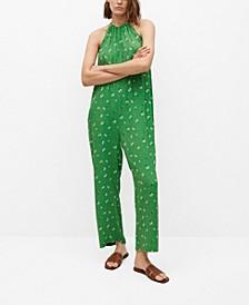 Women's Long Printed Jumpsuit