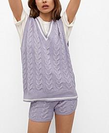 Women's Cable-Knit Vest