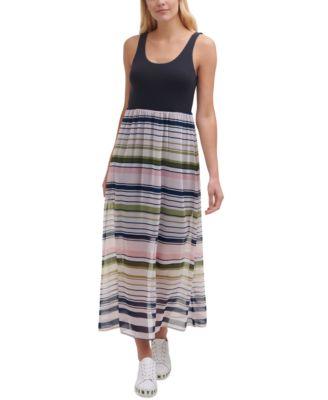 Colorblocked Maxi Dress