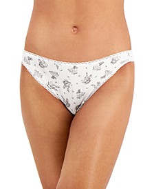 Cotton Paisley Thong Underwear, Created for Macy's