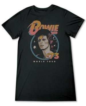 Juniors' David Bowie Short-Sleeve Tunic Dress