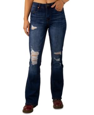Juniors' High-Rise Flare-Leg Jeans