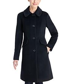 Petite Club-Collar Walker Coat, Created for Macy's