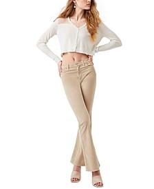 Judie Cropped Sheer-Shoulder Cardigan