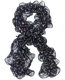 Women's Allyn Floral Double Ruffle Scarf