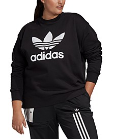 Plus Size Cotton Logo Graphic Sweatshirt