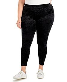 Plus Size Velvet Leggings, Created for Macy's