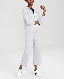 Zippered Hoodie & Wide-Leg Pants, Created for Macy's