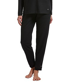 Plus Size Solid Cuffed Lounge Pants