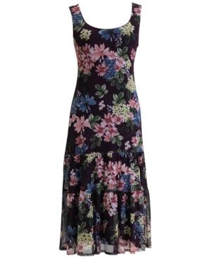 Sleeveless Drop-Waist Tiered Dress