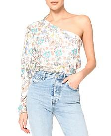 Jasmine Floral Print One-Shoulder Top