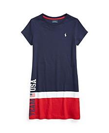 Little Girls Team USA Cotton Jersey T-shirt Dress