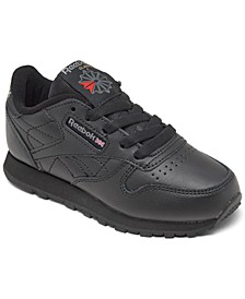 Little Kids Classic Leather Casual Sneakers from Finish Line