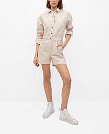Women's Cotton Denim Jumpsuit