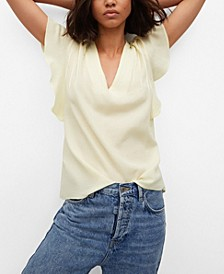 Women's Bow Textured Blouse