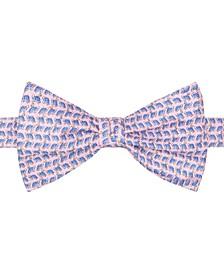 Men's Turtle Print To-Tie Silk Bow Tie