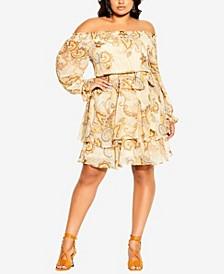 Plus Size Pretty Paisley Dress
