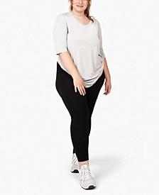 Plus Size 3/4 Sleeve Tunic T-shirt