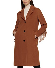 Single-Breasted Fringe Walker Coat