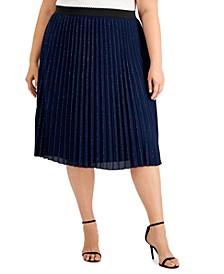 Plus Size Shimmer Skirt