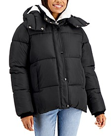 Juniors' Hooded Puffer Coat, Created for Macy's