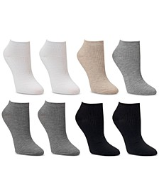 8-Pk. Low-Cut Fine Ribbed Socks