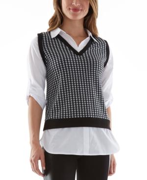 Juniors' Layered-Look Vest Top