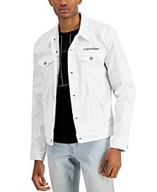 Men's Essential Logo Embroidered Trucker Jacket